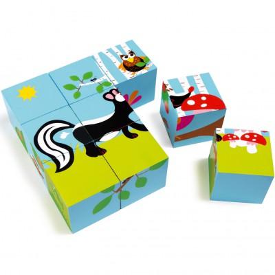 Puzzle cube Forêt (9 pièces) Scratch