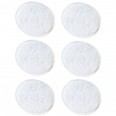 Lot de 6 coussinets lavables avec filet de lavage