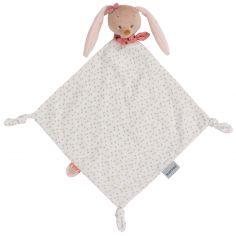 Maxi doudou attache sucette Pauline le lapin (65 x 35 cm)