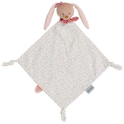 Maxi doudou attache sucette Pauline le lapin (65 x 35 cm)  par Nattou