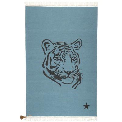 Tapis rectangulaire Gypsy tigre bleu (100 x 150 cm)