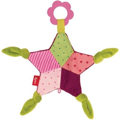 Doudou plat étoile frou-frou rose PlayQ  par Sigikid
