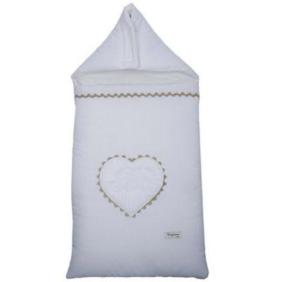 Nid d'ange passe sangle en coton Emma blanc (95 cm)  par Nougatine