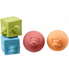 Lot de 2 balles et 2 cubes So'Pure