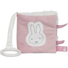 Livre bébé en tissu Miffy rose velours