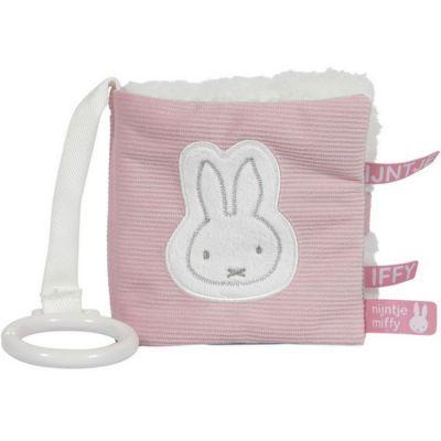 Livre bébé en tissu Miffy rose velours  par Pioupiou et Merveilles