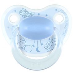 Sucette physiologique en silicone Paco bleu (6-16 mois)