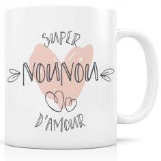 Mug céramique Super Nounou d'amour
