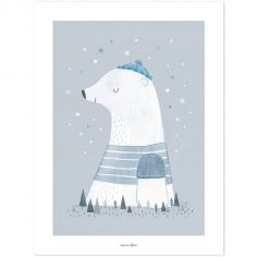 Affiche Artic dream Olaf l'ours polaire (30 x 40 cm)