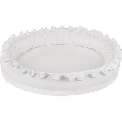 Tapis de jeu en coton cocon blanc Basic  par Cotton&Sweets