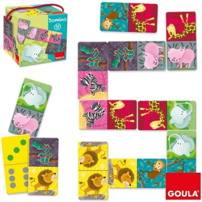 Dominos carrés safari Goula