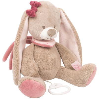 Doudou musical à suspendre Nina le lapin (28 cm) Nattou