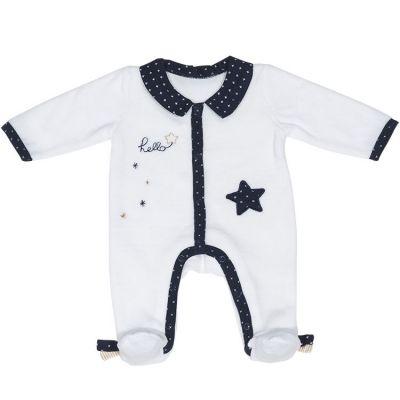Pyjama chaud étoile Hello (1 mois)  par Sauthon