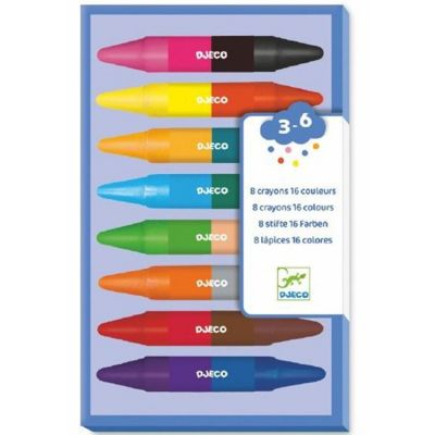 8 crayons doubles (16 couleurs)