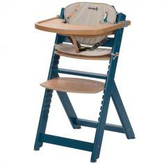 Chaise haute évolutive Timba bleue avec coussin Happy Day