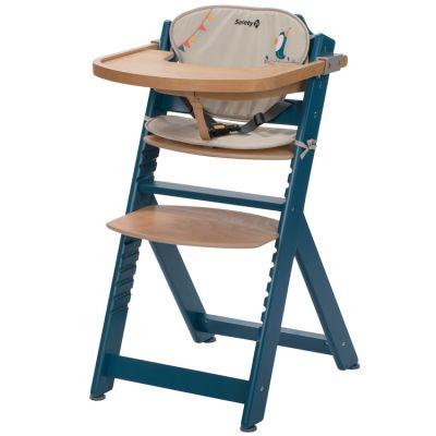 Chaise haute évolutive Timba bleue avec coussin Happy Day  par Safety 1st