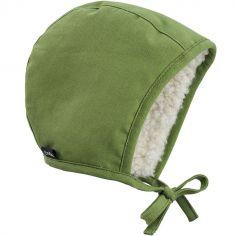 Bonnet vintage béguin Popping Green (0-3 mois)
