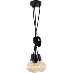 Lampe baladeuse 3 ampoules Spider lamp noire
