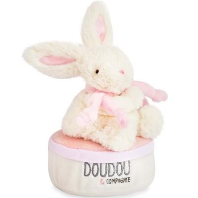 Boîte à musique lapin rose Bonbon Doudou et Compagnie