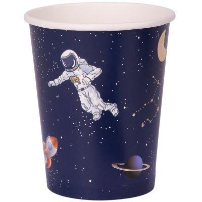Lot de 8 gobelets en carton Astronaute