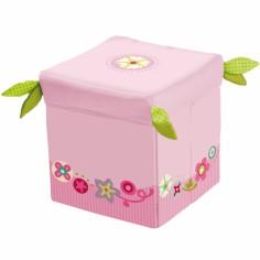 Siège cube Couronne fleurie
