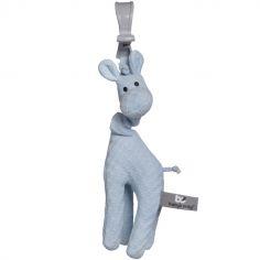 Peluche vibrante girafe à suspendre bleue