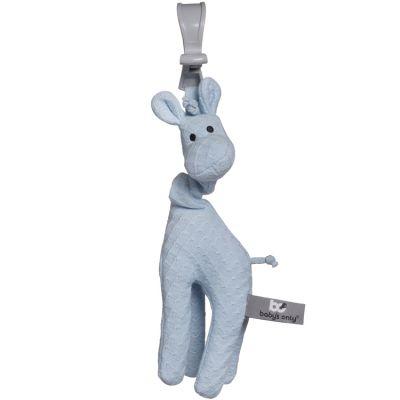 Peluche vibrante girafe à suspendre bleue  par Baby's Only