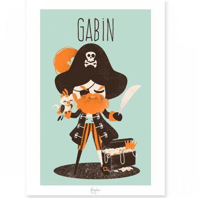 Carte A5 Les Pirates le capitaine (personnalisable)  par Kanzilue