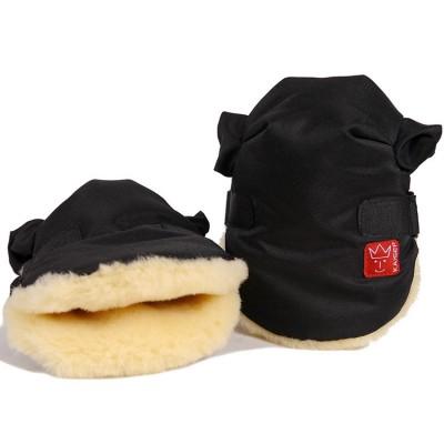 Moufles pour poussette Twoolly noires Kaiser