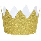 Couronnes glitter dorées (8 pièces) - My Little Day