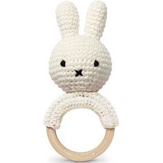 Hochet anneau de dentition Miffy blanc