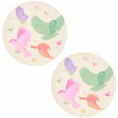 Pack de 2 grandes assiettes Oiseaux  par Love Maé