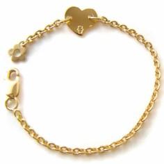 Bracelet Les Evolutifs 13,5 cm coeur 9 mm (or jaune 750°)