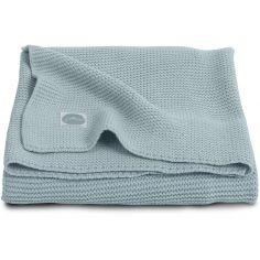 Couverture bébé en coton Basic knit gris vert (75 x 100 cm)