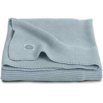 Couverture bébé en coton Basic knit gris vert (75 x 100 cm)  par Jollein
