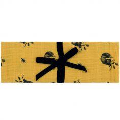 Maxi lange renard Bianca jaune (110 x 110 cm)