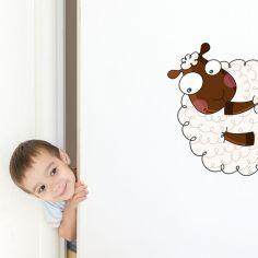 Sticker de porte mouton (côté droit)
