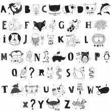 Assortiment de lettres pour lightbox ABC noir  par A Little Lovely Company