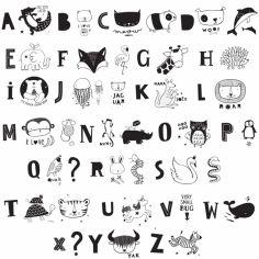 Assortiment de lettres pour lightbox ABC noir