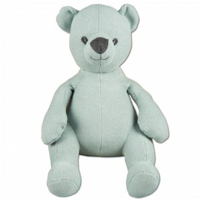 Peluche ourson Classic gris vert (35 cm) Baby's Only