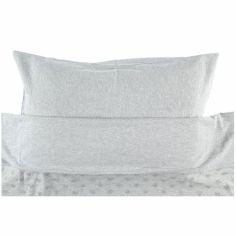 Housse de couette + taie d'oreiller gris clair Mix et Match (100 x 140 cm)