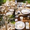 Assiettes en carton blanches chevrons dorés (12 pièces)  par Arty Fêtes Factory