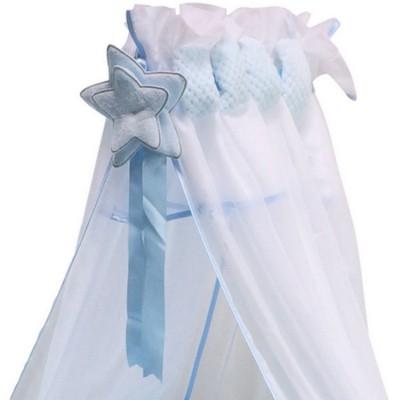 Ciel de lit Beryl bleu  par Nougatine
