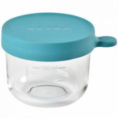 Pot de conservation Portion verre bleu (150 ml)