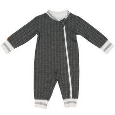 Pyjama chaud Cottage gris foncé (Naissance)