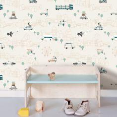 Papier peint véhicules Traffic (10 mètres)