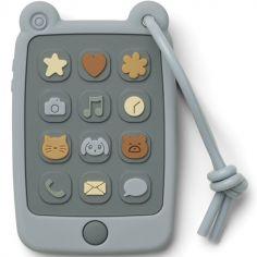 Téléphone de dentition en silicone Thomas sea blue