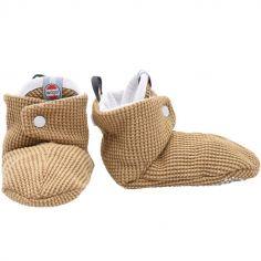 Chaussons en coton Ciumbelle miel  (3-6 mois)