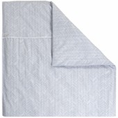 Housse de couette pour berceau Grey leaves (80 x 80 cm) - Little Dutch