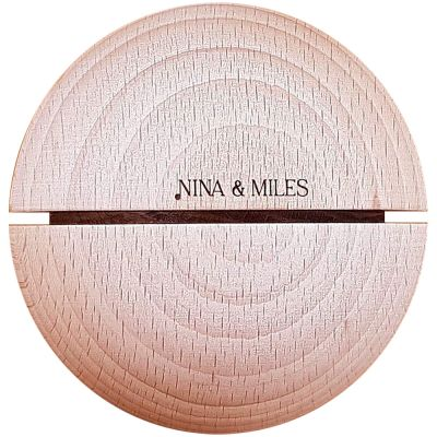 Boule sonore timbre noir Montessori (70 mm)  par Nina & Miles